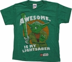 Star Wars Lego Yoda My Lightsaber Juvenile T Shirt