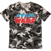Star Wars Logo Snow Camo T Shirt