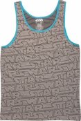 Star Wars Name All Over Gray Tank Top
