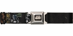 Star Wars Name Super Deformed Characters Seatbelt Mesh Belt