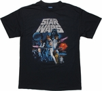 Star Wars New Hope Vintage Navy T Shirt