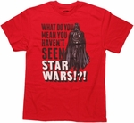 Star Wars Not Seen T Shirt