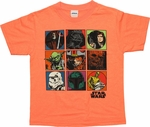 Star Wars Original Squares Orange Juvenile T Shirt