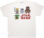 Star Wars Pixel Characters Yoda Lower T Shirt