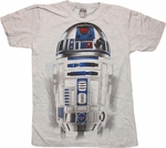 Star Wars R2 D2 Mineral Wash T Shirt Sheer
