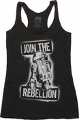 Star Wars R2D2 Join Rebellion Tank Top Baby Tee