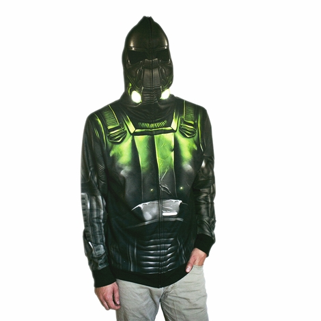 Star Wars Rogue One Death Trooper Face Zip Hoodie