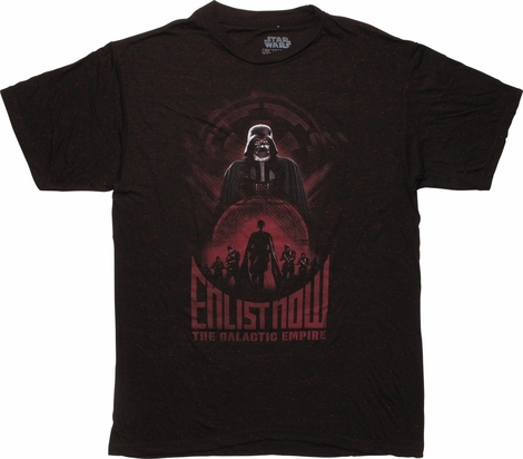 Star Wars Rogue One Empire Enlist Now T-Shirt
