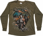 Star Wars Skywalker Pilot Olive Long Sleeve Youth T Shirt