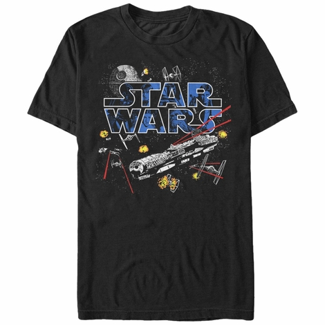 Star Wars Space Battle Action T-Shirt
