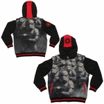 Star Wars Squad Sublimated Overlay Convertible Vest Youth Hoodie