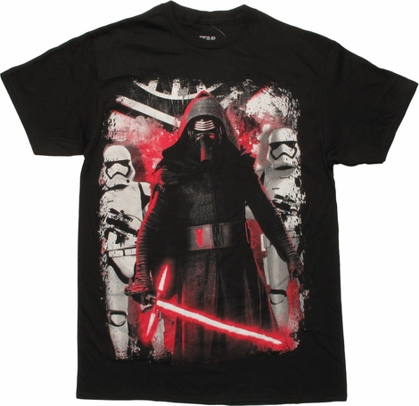 Star Wars TFA Kylo Ren and Stormtroopers T-Shirt