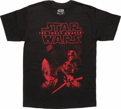 Star Wars The Force Awakens Enemy Line Up T-Shirt
