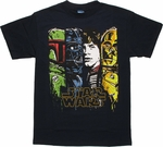 Star Wars Toon Panels T Shirt