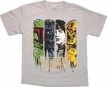 Star Wars Toon Panels Youth T Shirt