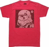 Star Wars Trooper Helmet Side Burnout T Shirt Sheer