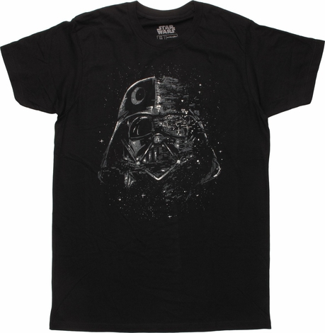 Star Wars Vader Broken Star Mask T-Shirt