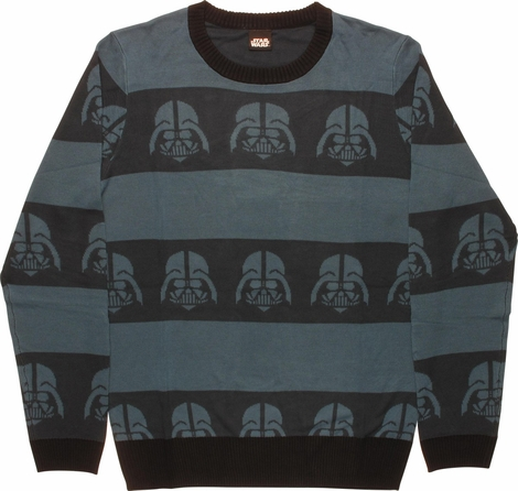 Star Wars Vader Helm Stripes Mighty Fine Sweater