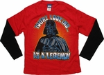 Star Wars Vader Legend Long Sleeve Juvenile T Shirt