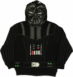 Star Wars Vader Printed Hood Zip Youth Hoodie