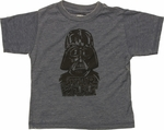 Star Wars Vader Sketch Burnout Toddler T Shirt