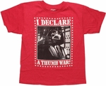 Star Wars Vader Thumb War Youth T Shirt