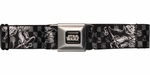 Star Wars Yoda Black and White Skateboarding Seatbelt Mesh Belt