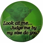 Star Wars Yoda Size Button