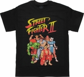 Street Fighter 2 Logo Group T-Shirt