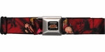 Street Fighter Ken Ryu and Akuma Seatbelt Mesh Belt