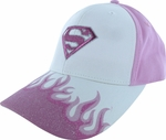 Supergirl Flames Youth Hat