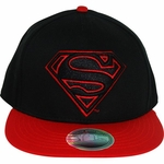 Superman Black Red Logo Hat