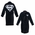 Superman Black Terrycloth Robe