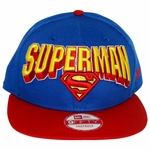 Superman Block Name Hat