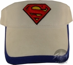 Superman Blue Rim Youth Visor