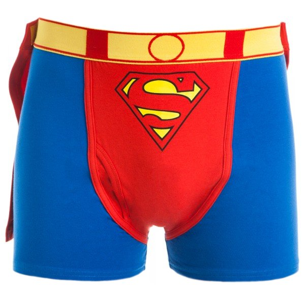 Superman Underwear, Boxers and Pajamas Our Superman Underwear and Pajamas are perfect for lounging and low-impact crime-fighting. If you're looking for underwear that resides beneath one's singlet, then pick up a pair of Superman boxer shorts, briefs, or boxer briefs.