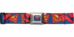 Superman Caped Logo Seatbelt Belt