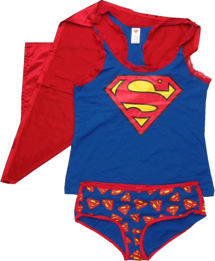 Superman Caped Tank and Briefs Junior Pajama Set