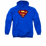 Superman Chenille Patch Logo Pullover Hoodie