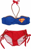Superman Color Braid Bandeau Bikini Swimsuit
