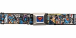Superman Comic Panels Seatbelt Belt