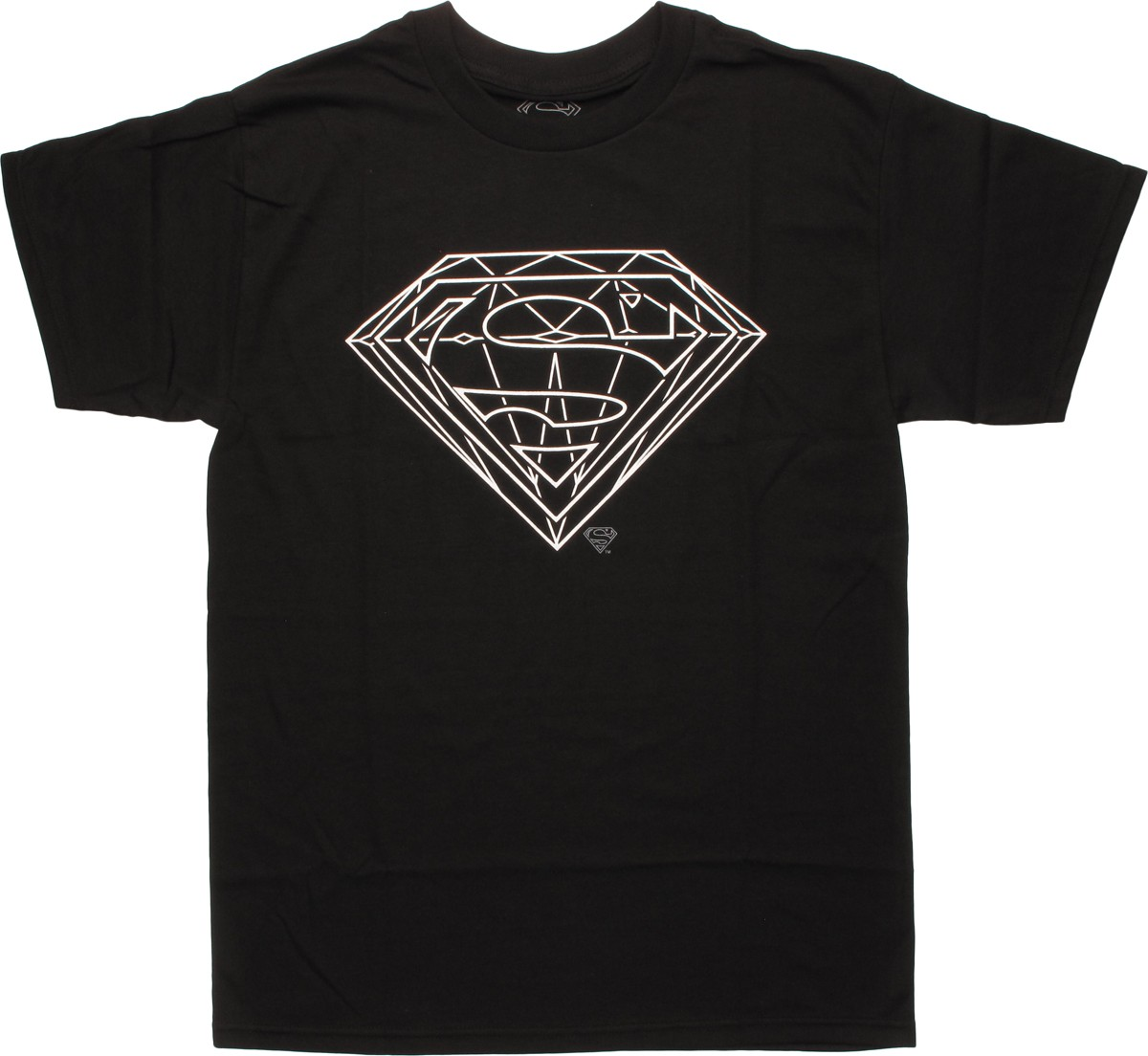 superman diamond outline logo tshirt
