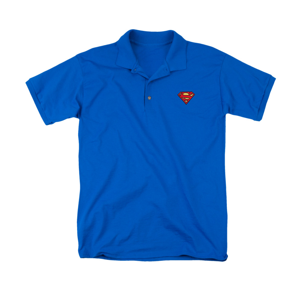 Superman Embroidered Logo Polo Shirt