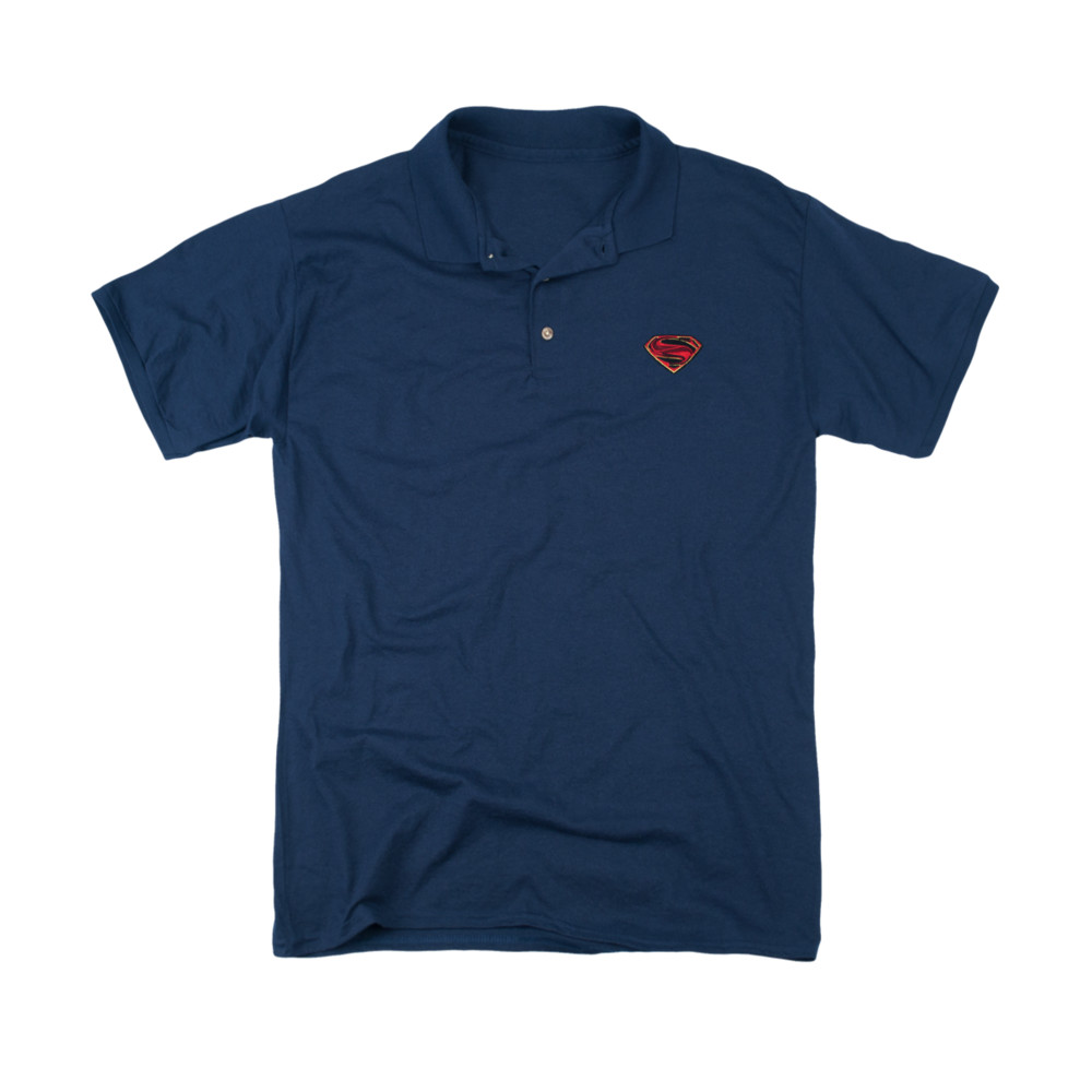 Superman Embroidered MOS Logo Polo Shirt