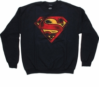 Superman Faded Logo Sweatshirt