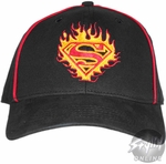 Superman Flames Youth Hat