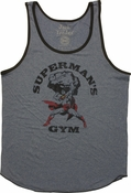 Superman Gym Ringer Tank Top