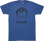 Superman Hashtag Truth T Shirt Sheer