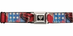 Superman Logo American Flag Seatbelt Belt