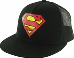 Superman Logo Black Trucker Hat